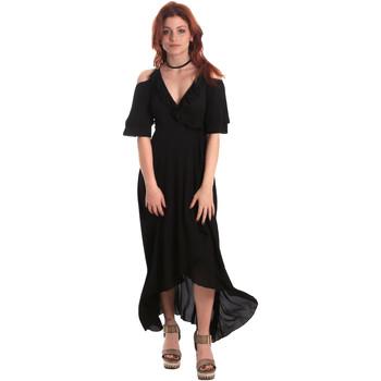 textil Dame Lange kjoler Fornarina BE178D69CA2000 Sort