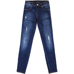 textil Dame Jeans - boyfriend Fornarina BER1I89D844UA Blå