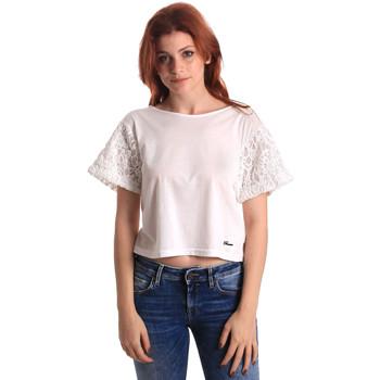 textil Dame Toppe / Bluser Fornarina SE175J88JG1309 hvid