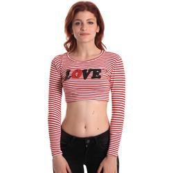 textil Dame Langærmede T-shirts Fornarina SE175L14JG0976 Rød