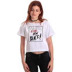 textil Dame T-shirts m. korte ærmer Fornarina SE175L28JG0709 hvid