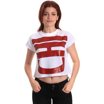 textil Dame T-shirts m. korte ærmer Fornarina SE175L31JG0709 hvid