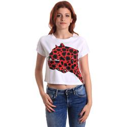 textil Dame T-shirts m. korte ærmer Fornarina SE175L32JG0709 Rød