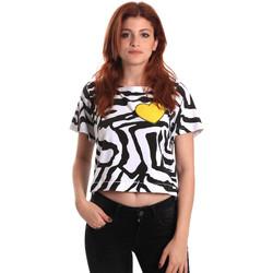 textil Dame T-shirts m. korte ærmer Fornarina SE175L35JG0700 Sort
