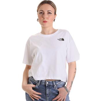 textil Dame T-shirts m. korte ærmer The North Face NF0A4SYCFN41 hvid
