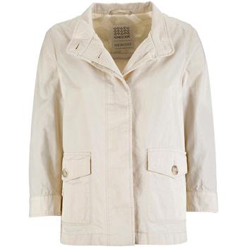 textil Dame Parkaer Geox W7223C T2343 hvid
