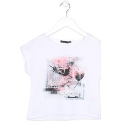 textil Pige T-shirts m. korte ærmer Losan 714 1014AB hvid