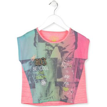 textil Pige T-shirts m. korte ærmer Losan 714 1017AB Lyserød
