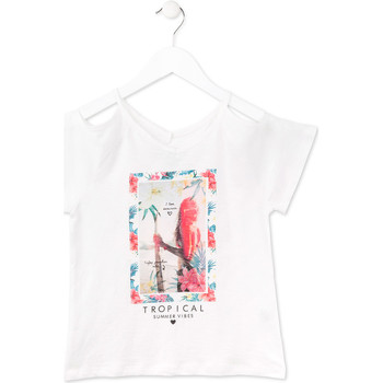 textil Pige T-shirts m. korte ærmer Losan 714 1026AB hvid