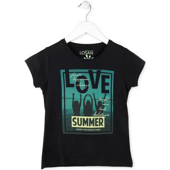 textil Pige T-shirts m. korte ærmer Losan 714 1204AB Sort