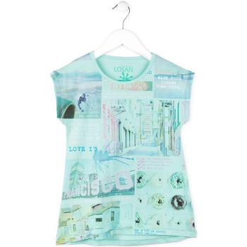 textil Pige T-shirts m. korte ærmer Losan 714 1215AB Blå