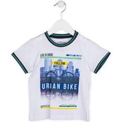textil Dreng T-shirts m. korte ærmer Losan 715 1013AC hvid