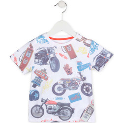 textil Dreng T-shirts m. korte ærmer Losan 715 1017AC hvid