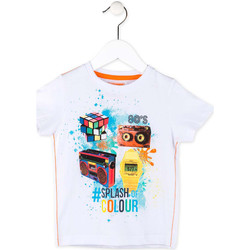 textil Dreng T-shirts m. korte ærmer Losan 715 1023AC hvid