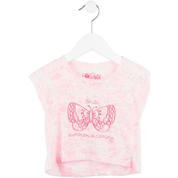 textil Pige T-shirts m. korte ærmer Losan 716 1011AD Lyserød