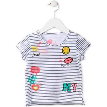 textil Pige T-shirts m. korte ærmer Losan 716 1033AD hvid