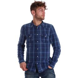 textil Herre Skjorter m. lange ærmer Gaudi 721BU46005 Blå