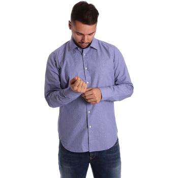 textil Herre Skjorter m. lange ærmer Gmf 972160/04 Blå