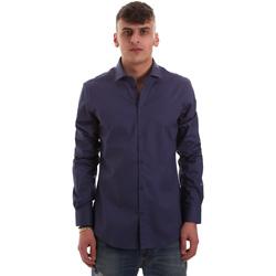 textil Herre Skjorter m. lange ærmer Gaudi 921BU45001 Blå