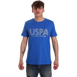 textil Herre T-shirts m. korte ærmer U.S Polo Assn. 57197 49351 Blå