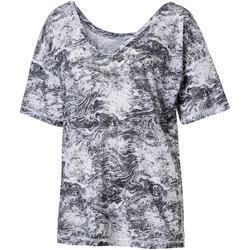 textil Dame T-shirts m. korte ærmer Puma 515721 Grå