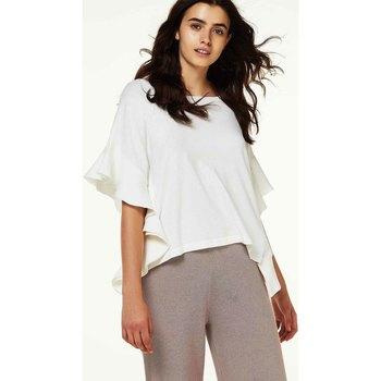 textil Dame Toppe / Bluser Liu Jo M67098MA99E hvid