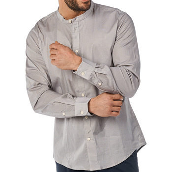 textil Herre Skjorter m. lange ærmer Gaudi 811BU45012 Grå