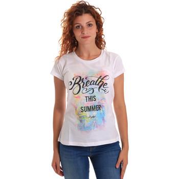 textil Dame T-shirts m. korte ærmer Key Up 5D59S 0001 hvid