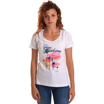 textil Dame T-shirts m. korte ærmer Key Up 5D58S 0001 hvid