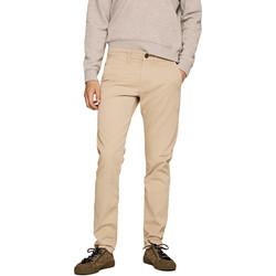 textil Herre Chinos / Gulerodsbukser Pepe jeans PM210992C342 Beige