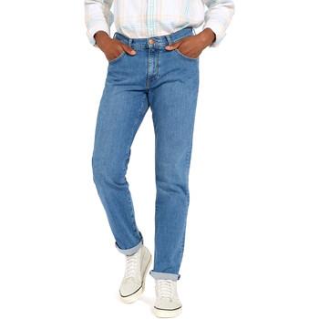 textil Herre Lige jeans Wrangler W12OM440D Blå