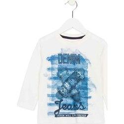 textil Børn Langærmede T-shirts Losan 725 1000AC hvid