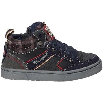 Sko Børn Høje sneakers Wrangler WJ17225B Blå