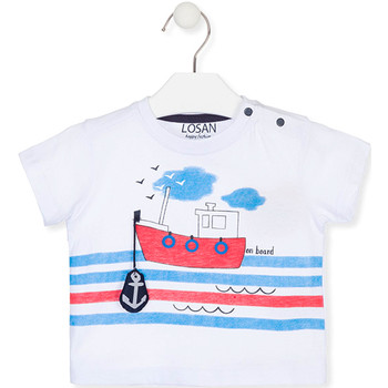 textil Børn T-shirts m. korte ærmer Losan 017-1004AL hvid