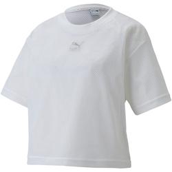textil Dame T-shirts m. korte ærmer Puma 598616 hvid