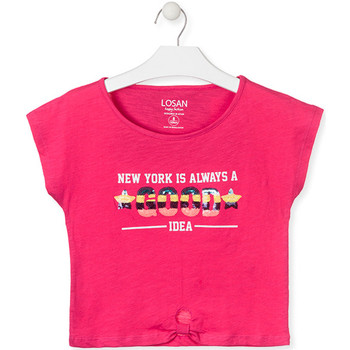 textil Pige T-shirts m. korte ærmer Losan 014-1025AL Lyserød