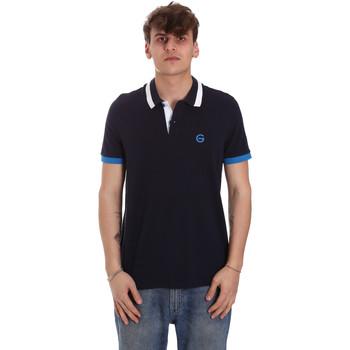 textil Herre Polo-t-shirts m. korte ærmer Gaudi 011BU64043 Blå