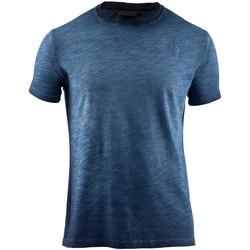 textil Herre T-shirts m. korte ærmer Lumberjack CM60343 004 517 Blå