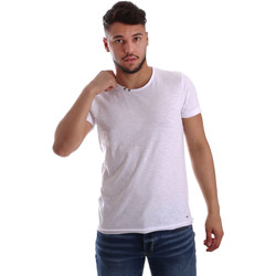 textil Herre T-shirts m. korte ærmer Key Up 233SG 0001 hvid