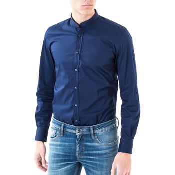 textil Herre Skjorter m. lange ærmer Antony Morato MMSL00376 FA450001 Blå