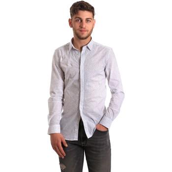 textil Herre Skjorter m. lange ærmer Antony Morato MMSL00428 FA430302 hvid