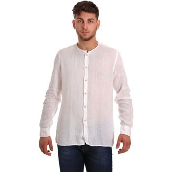 textil Herre Skjorter m. lange ærmer Gaudi 811BU45022 hvid