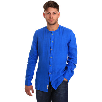 textil Herre Skjorter m. lange ærmer Gaudi 811BU45022 Blå