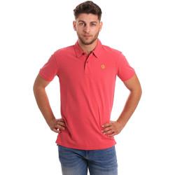 textil Herre Polo-t-shirts m. korte ærmer Gaudi 811BU64074 Lyserød