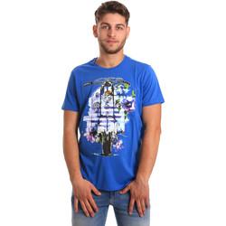 textil Herre T-shirts m. korte ærmer Gaudi 811BU64154 Blå