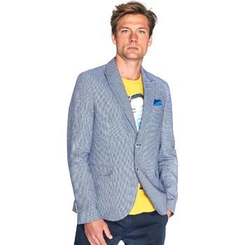 textil Herre Jakker / Blazere Gaudi 811FU35035 Blå