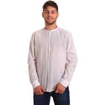 textil Herre Skjorter m. lange ærmer Gaudi 811FU45020 hvid