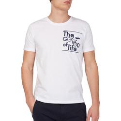 textil Herre T-shirts m. korte ærmer Gas 542990 hvid