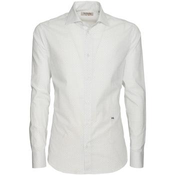 textil Herre Skjorter m. lange ærmer NeroGiardini P873051U hvid