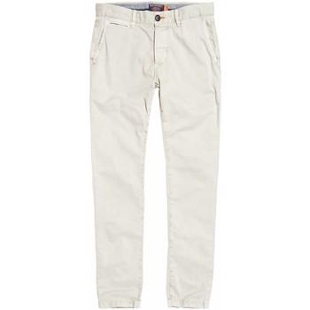 textil Herre Chinos / Gulerodsbukser Superdry M70001TQF2 hvid